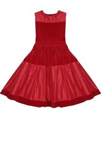 Приталенное платье без рукавов Oscar de la Renta