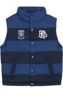 Стеганый пуховый жилет на кнопках Polo Ralph Lauren