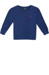 Хлопковый лонгслив с логотипом бренда Polo Ralph Lauren