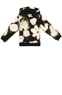 Кардиган джерси с цветочным принтом Dolce & Gabbana
