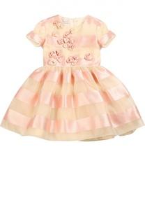 Приталенное платье с декоративной отделкой I Pinco Pallino