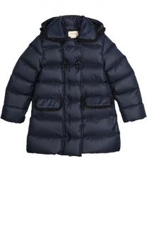 Пуховое пальто с капюшоном Gucci