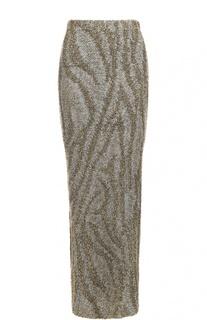 Вязаная юбка-макси с металлизированной отделкой Dries Van Noten