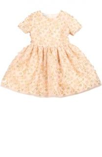 Приталенное платье с цветочной вышивкой I Pinco Pallino