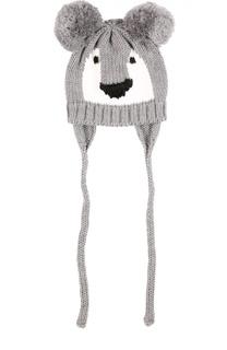 Шапка из шерсти мериноса с вышивкой Catya