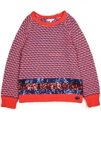 Вязаный свитер с пайетками Marc Jacobs