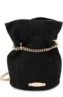 Замшевая сумка Aumoniere mini на цепочке Lanvin