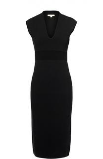 Платье-футляр без рукавов с V-образным вырезом Michael Michael Kors