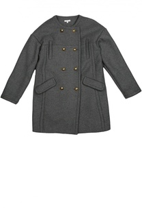 Шерстяное двубортное пальто Chloé