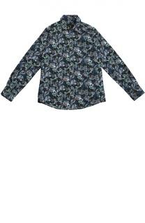 Хлопковая рубашка с цветочным принтом Billionaire