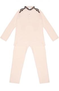 Пижама с контрастной кружевной отделкой La Perla