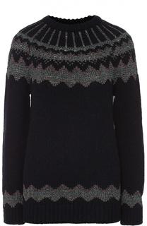 Пуловер прямого кроя с металлизированной отделкой REDVALENTINO