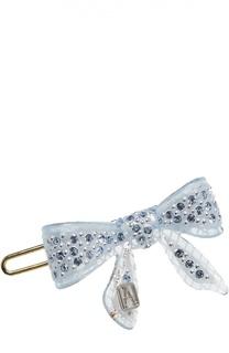 Заколка в виде банта с кристаллами Swarovski Alexandre De Paris