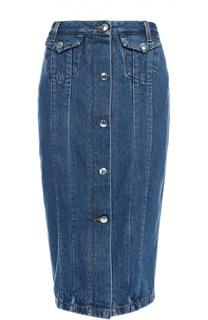 Джинсовая юбка-карандаш на пуговицах Acne Studios