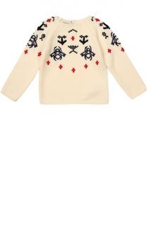Пуловер из шерсти с вышивкой Gucci