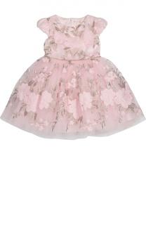 Платье с пышной юбкой и цветочной вышивкой David Charles