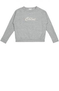 Толстовка с логотипом бренда Chloé