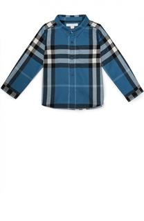 Рубашка из хлопка с принтом Burberry
