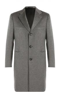 Кашемировое однобортное пальто Kiton