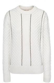 Пуловер фактурной вязки с металлизированной отделкой Michael Michael Kors