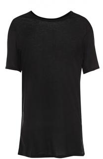 Удлиненная футболка из смеси хлопка и кашемира 11 by Boris Bidjan Saberi