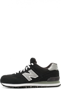 Замшевые кроссовки 574 Core с сетчатыми вставками New Balance