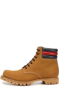 Ботинки Marland из нубука с кожаными вставками Gucci