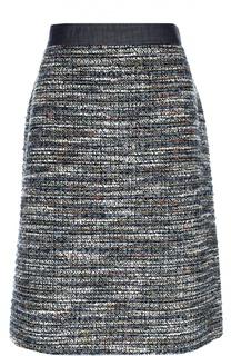 Буклированная юбка с широким контрастным поясом Escada Sport