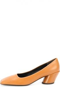 Кожаные туфли Quadro на геометричном каблуке Balenciaga