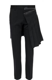 Шерстяные брюки Admiral с декоративным килтом Dsquared2