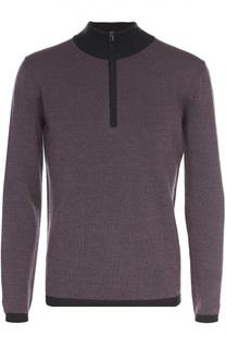 Шерстяной свитер тонкой вязки с воротником на молнии Pal Zileri