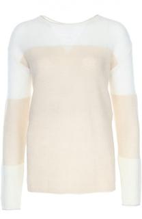 Полупрозрачный вязаный пуловер с вырезом-лодочка Escada Sport