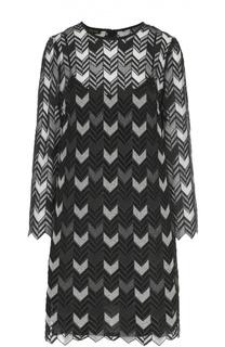 Мини-платье прямого кроя с укороченным рукавом Escada