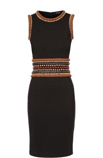Облегающее платье без рукавов с декоративной отделкой Dsquared2