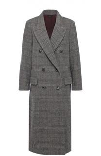 Двубортное пальто прямого кроя с широкими лацканами Isabel Marant