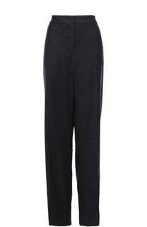 Шерстяные брюки прямого кроя со стрелками Escada