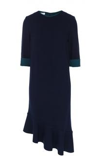 Платье асимметричного кроя с коротким рукавом Escada Sport