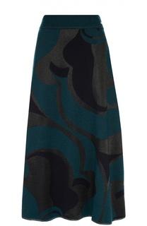 Вязаная юбка-миди с контрастным принтом Escada Sport