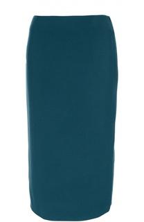 Юбка прямого кроя с декоративной молнией Escada Sport