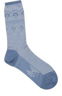Хлопковые носки с кружевным принтом Antipast