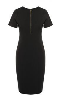 Облегающее платье с коротким рукавом и вырезом на молнии Michael Michael Kors