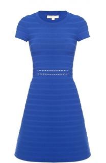 Приталенное платье с коротким рукавом и перфорацией Michael Michael Kors