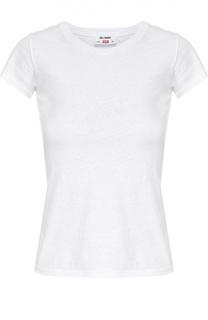 Приталенная хлопковая футболка Re/Done