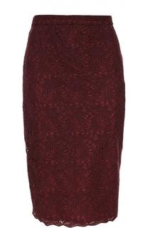 Кружевная юбка-карандаш Escada