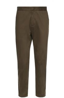 Хлопковые брюки с заниженной линией шага Moncler