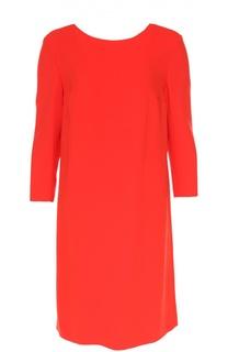 Платье асимметричного кроя с укороченным рукавом Escada