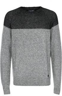 Шерстяной джемпер с круглым вырезом Armani Jeans