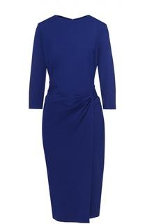 Облегающее платье с укороченным рукавом и драпировкой Escada