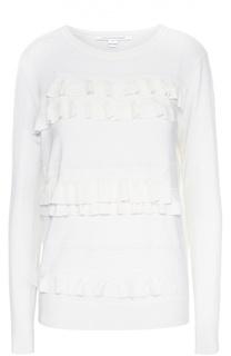 Пуловер с круглым вырезом и рюшами Diane Von Furstenberg