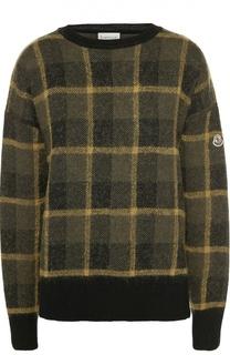 Пуловер свободного кроя со спущенным рукавом Moncler